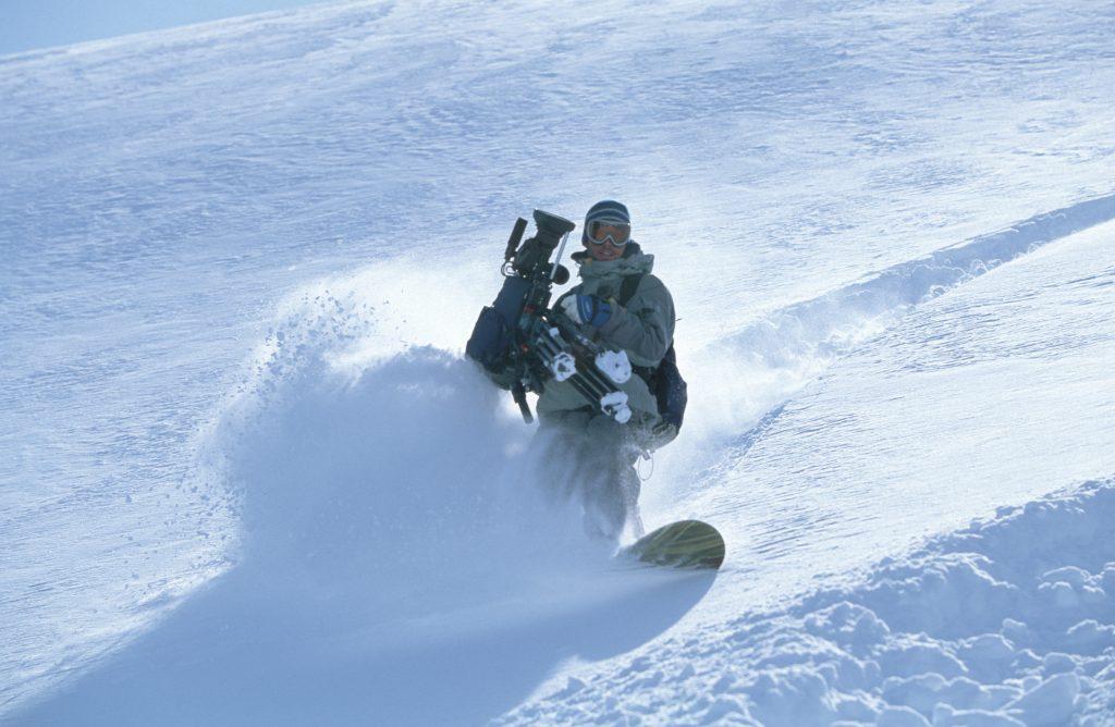 Tim Butt Cameraman snowboarding Atlin BC powder