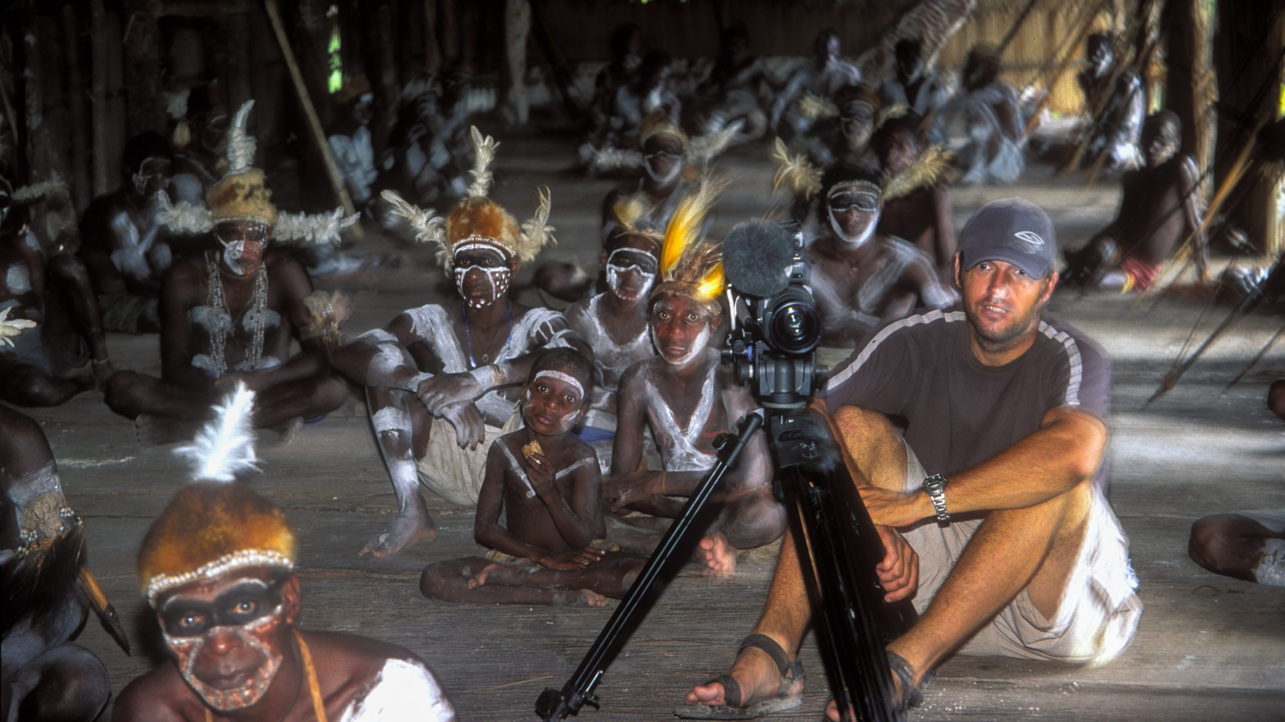 Tim Butt Cameraman West Papua Asmat Tribe BBC