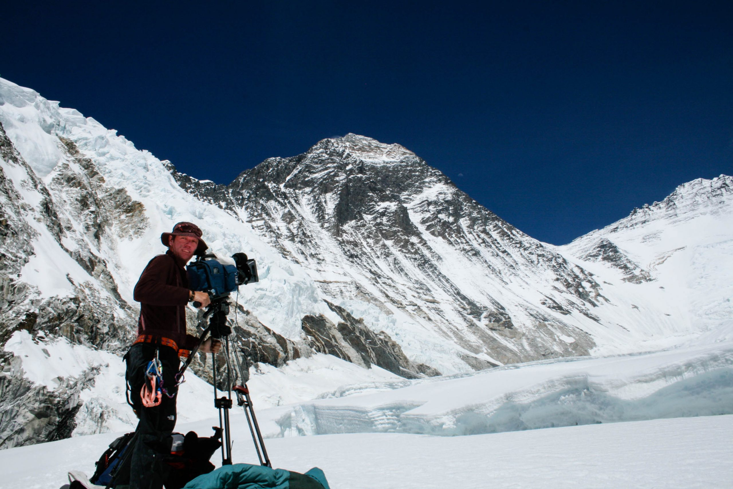 Tim Butt Cameraman Western Cwm Mt Everest Sony DVW 790 BBC Climbing