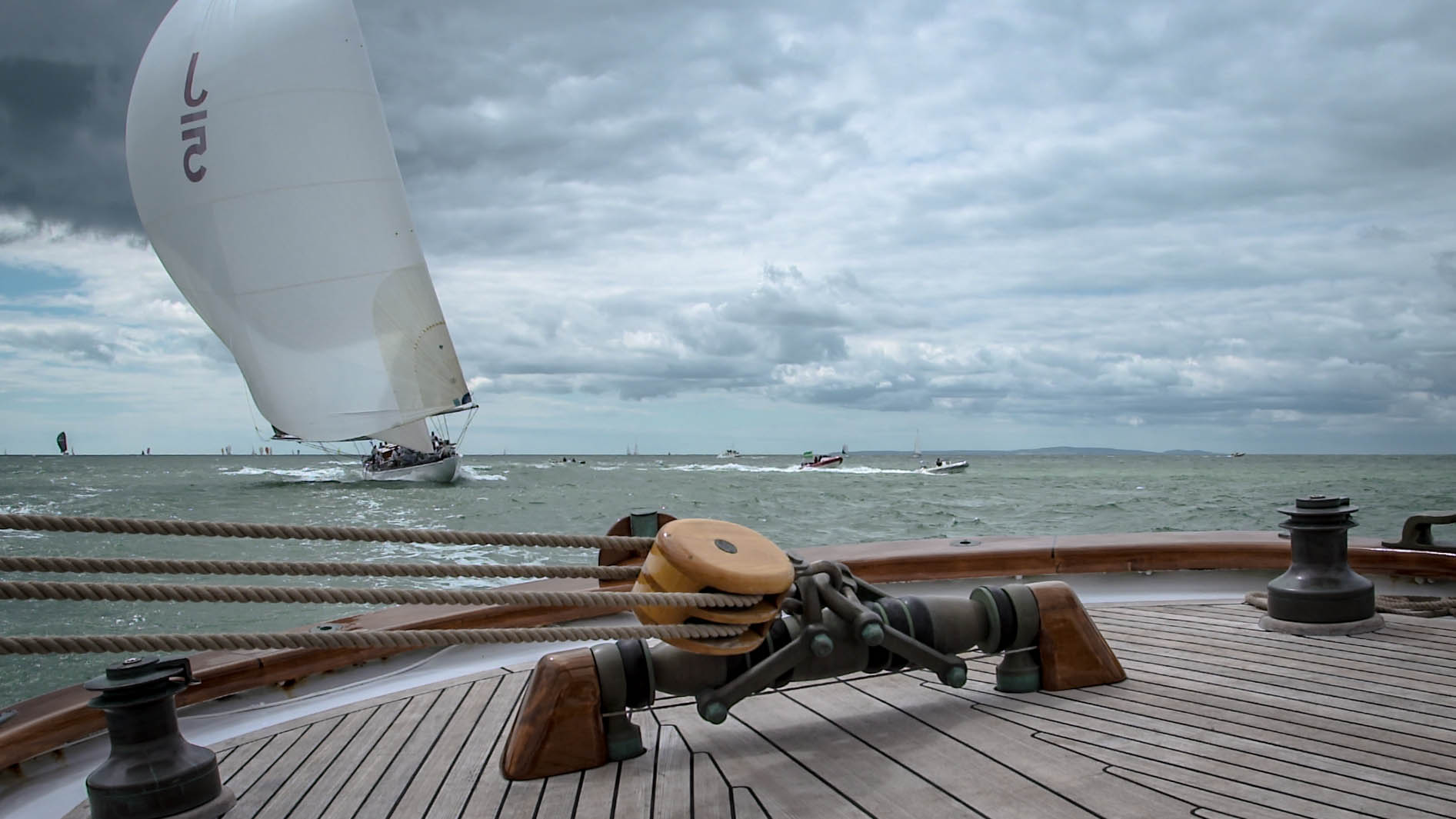 Tim Butt Cameraman J Class yacht sailing Isle of Wight